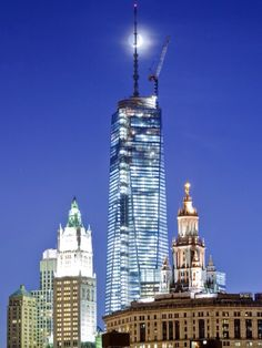 The Moon and WTC by Tim Drivas, via Flickr