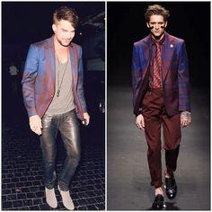 What's he wearing?: Adam Lambert in Vivienne Westwood - Chateau Marmon...