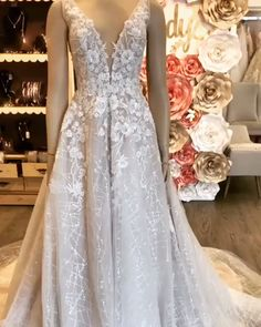 This floral lace beauty is everything a modern bride could as for. From the romantic lace to that special sparkle. Everything comes together to deliver an unforgetable bridal look. Click the link for more styles like this. Bridesmaids, Bridesmaid Dresses, Welcome To Our Wedding, Gift Suggestions, Girls Dresses, Summer Dresses, Romantic Lace, Dress Silhouette, Dream Wedding Dresses