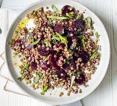 Mustardy beetroot & lentil salad