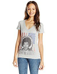 New Jimi Hendrix Karl Ferris Junior's American Flag Athletic Heather V-Neck T-Shirt online. Find the perfect NY Collection Tops-Tees from top store. Sku SUEG83386MYOW18826