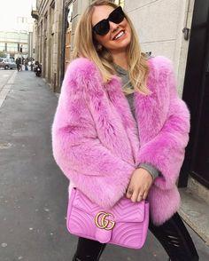 ChiaraFerragni_Style: From ChiaraFerragni_Style closet GUCCI Gg Marmont 2.0 Medium Quilted Shoulder Bag, Bright Pink #ChiaraFerragni #hotgirl #BlondeSalad #fashionBlogger