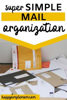 Simple mail organization anyone can implement today to stop the piles on your counter tops and feel organized! #mail #organization #countertops #organize #homeorganization