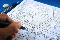 How to make manga comic books.