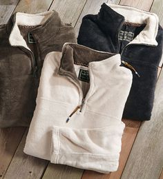 True Grit Flurr Quarter-Zip Fleece Pullover