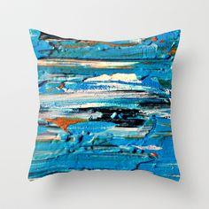 "Blue by Claudia McBain THROW PILLOW / COVER (16"" X 16"") $20.00"