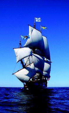 Take sail on the Kalmar Nyckel, the tall ship replica of Delaware.