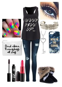 """""""Never Give Up."""" by destinee-hogeland ❤ liked on Polyvore featuring Mode, Rouge Bunny Rouge, MAC Cosmetics, Yves Saint Laurent und Kate Spade"""