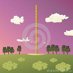 Illustration of the #Constantin #Brancusi's #Endless #Column #sculpture, also known as Column of the #Infinite, from #Targu #Jiu city, #Romania