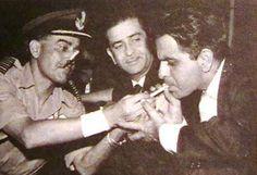 1960s :: Dilip Kumar Smoking As Raj Kapoor Looks on (@IndiaHistorypic) | Twitter