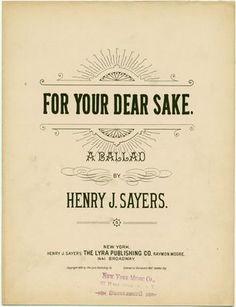 for your dear sake