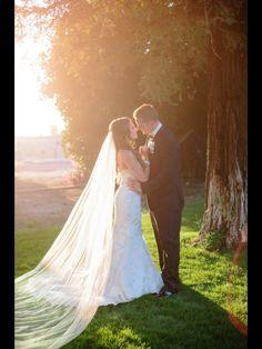 Sunset wedding shot
