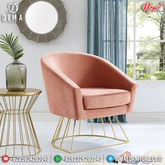 Kursi Sofa Minimalis Stainless Steel New Design Beutiful Inspiring MMJ-0793 Velvet Accent Chair, Accent Chairs, Dressing Chair, Leather Lounge, Chair Types, Barrel Chair, Metal Chairs, Inspired Homes, Living Room Chairs