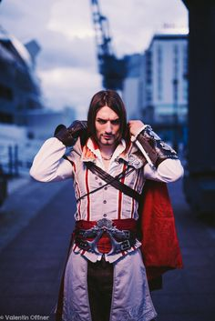 Ezio Auditore - Assassin's Creed 2 Cosplay Art by LeonChiroCosplayArt on DeviantArt