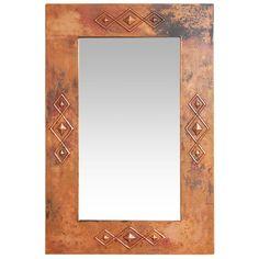 Antique Pine & Copper Collection - Southwest Copper Mirror - RSC-MIR003
