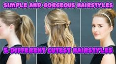 Amazing Hairstyles: How to Do Simple and Gorgeous Hairstyles | 5 Different Cutest Hairstyles  ========================================================  Hair is common in mammals on earth and almost all mammals groom themselves and their body hair as part of hygiene. But it is only Humans who pay more attention to hairstyles for the hair on their heads. In the past few centuries new and fashionable hairstyles have become the rage especially among the rich and famous. In the modern world…