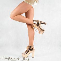 Ботильоны женские JEFFREY LITA gold в магазине дизайнерской обуви CabLOOK.ru