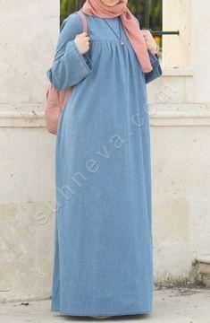 Robali Kot Elbise Mavi Fashion Abaya Fashion Style