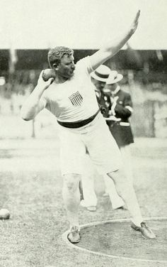 1912 Olympic Gold in Shot Put & Silver in Both Arms Shot Put ( combined best of throws with right & then left arm ) Patrick McDonald - Gold in 56 lb weight throw in 1920 Olympics ( Event only held in 2 Olympic Games ) Us Olympics, Summer Olympics, Shot Put, Olympic Athletes, Track And Field, Usa Flag, Olympic Games, Running, Men