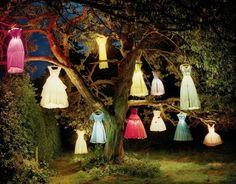 déco garden party pour enterrement de vie de jeune fille - robes-lanternes