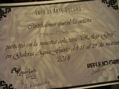 """Mariana Paulcan. Expo grupal en Galería """"Agua Fuerte"""" 15 Marzo2014. San Telmo, Buenos Aires."""