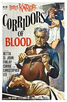 projetor antigo: Corredores de Sangue 1958 Leg avi  1958 , Boris Karloff , Christopher Lee , Finlay Currie , Legendado , Robert Day , Suspense/Terror