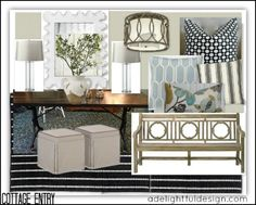 foyer design board: the cottage project