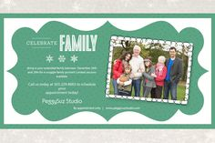 EXTENDED FAMILY SESSIONS! Who has family coming home for the holidays? I have a great idea! Bring in your extended family between December 26th and December 29th for a snuggle family portrait before  ...