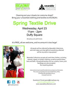 Check out BGAs highly successful Spring Textile Drive and start planning for next year!