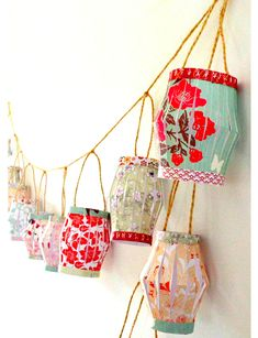 Simple, handmade, and pretty, you can use this Chinese lantern garland year after year. (Image: Carole Poirot/AOLife.com)