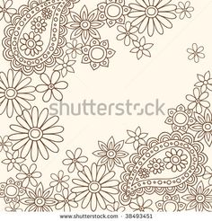 Hand-Drawn Abstract Paisley Henna Doodles Vector by blue67design, via Shutterstock