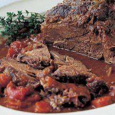 Veal Recipes, Pot Roast Recipes, Crockpot Recipes, Cooking Recipes, Roasted Vegetable Lasagna, Lentil Sausage Soup, Perfect Roast Chicken, Barefoot Contessa, Roasted Meat