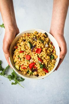 """I like ordinary couscous and all but there is something about the look and the texture of giant couscous that makes it more delicious, somehow. The """"golden"""" bit comes from a generous sprinkling of turmeric"""