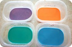 Creative colors of homemade paint - looks easy and a great activity for even the littlest ones.