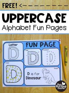 Free Uppercase Alphabet Fun Pages - This Reading Mama Preschool Literacy, Phonics Activities, Preschool Printables, Preschool Alphabet, Preschool Ideas, Learning Activities, Teaching Ideas, Free Printables, Teaching Handwriting