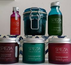 Are the darker days getting you down? Brighten up your bathroom and #beauty regimen with @Spiezia - their beautiful coloured glass is bound to cheer you up. What's your favourite product? #beauty #skincare #bodycare #organic