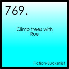 RUE! Oh, if only you were my little sister; we'd do all sorts of wonderful things together! The Hunger Games