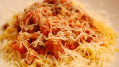 Spagetti Bolognese Bolognese, Bacon, Spaghetti, Pasta, Ethnic Recipes, Food, Meal, Essen, Hoods