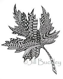 My Doodles - jill buckley - Picasa Web Albums Ahornblatt Zentangle Drawings, Doodles Zentangles, Zentangle Patterns, Tangle Doodle, Zen Doodle, Doodle Art, Zantangle Art, Op Art, Adult Coloring Pages