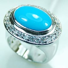 Orineiros Sterling Silver Plated Rings Turquoise
