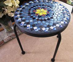 Mosaic Patio Table by MadewithLovebyLynda on Etsy