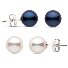 Day 1 Black Akoya and White Freshwater Pearl Stud Earrings. This Christmas, she deserves not one, but two incredible gifts. Our 1st day of Christmas special sale is amazing: two sets of gorgeous pearl earrings for a discounted price!  Here's the great thing about this special: we take out the hard part for you having to select between white or black pearls because we'll ship BOTH colors to her for a discounted price. Shop Now! https://www.pearlparadise.com/