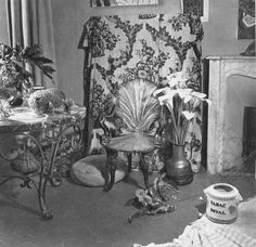 A photograph by Matisse of the armchair which appears in his famous canvas, The Rococco Armchair, Vence, 1946.