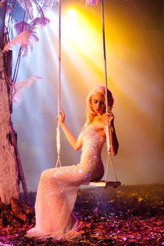 ANTM model, Allison Harvard, in a beautiful crystal dress!