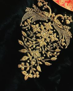 Renovate your Wardrobe, We provide customization in Designer Blouses & women ethnic wear. that reflect Amazing Handwork & Unique Zardosi Art at Your Budget & time, Worldwide Delivery. Embroidery Neck Designs, Hand Work Embroidery, Embroidery Suits, Blouse Designs Silk, Bridal Blouse Designs, Velvet Dress Designs, Zardozi Embroidery, Couture Embroidery, Bullion Embroidery
