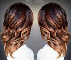caramel ombre highlights for dark brown hair