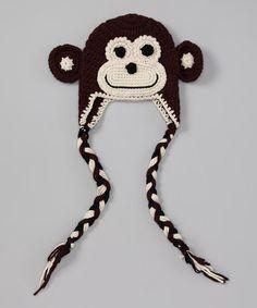 Brown Monkey Earflap Beanie