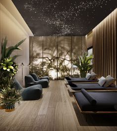 Spa zone in Adagio Hotel Design Hotel, Spa Interior Design, Interior Simple, Spa Design, Lobby Design, Hotel Lobby Interior Design, Modern Hotel Lobby, Massage Room Design, Piscina Spa