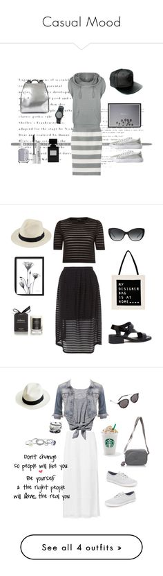 """""""Casual Mood"""" by lifestylestories ❤ liked on Polyvore featuring Uniqlo, Bench, Charlotte Russe, Ruxx, Nixon, Essie, Stila, Black, Intentionally Blank and Tiffany & Co."""