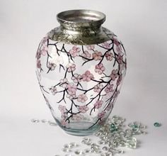 I found Hand Painted Glass Vase Cherry Blossom Sakura2 by NevenaArtGlass on Wish, check it out!